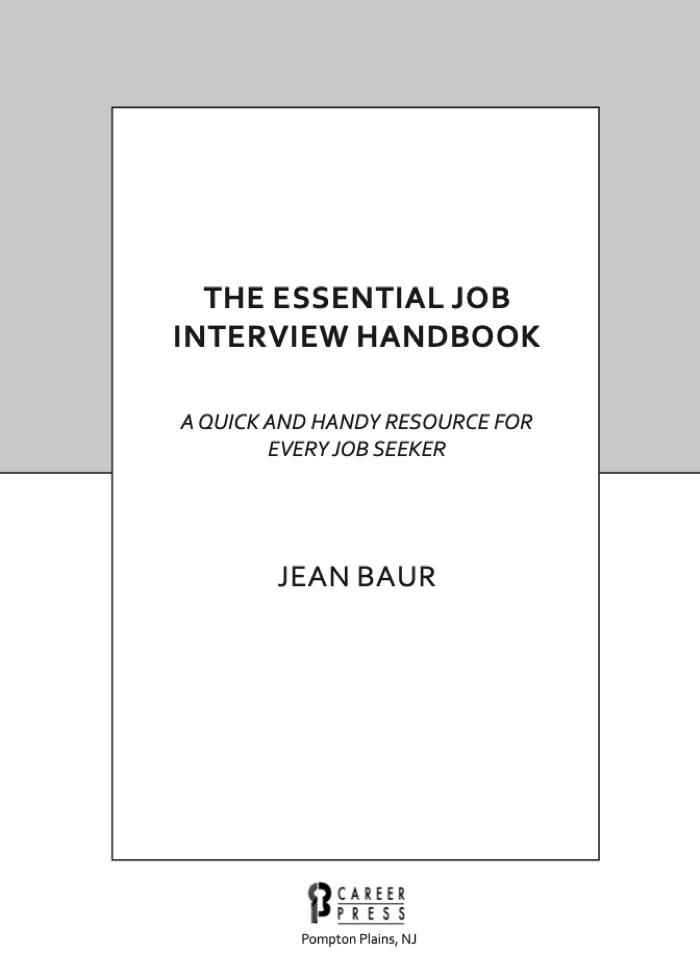 THE ESSENTIAL JOB INTERVIEW HANDBOOK at Social-Media.press