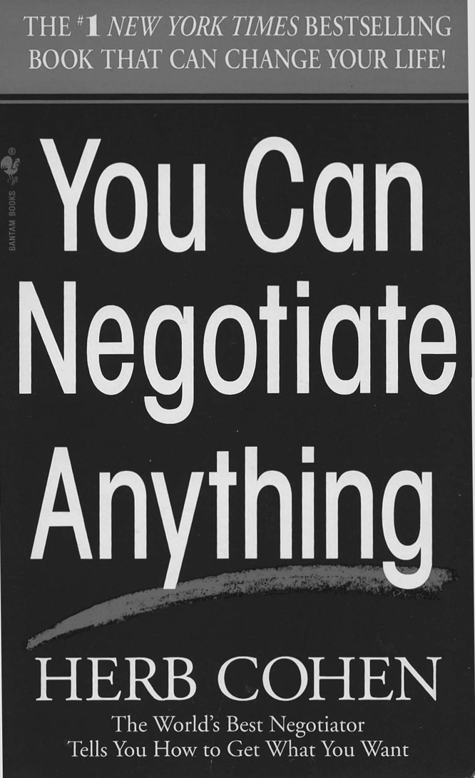You can negotiate anything book