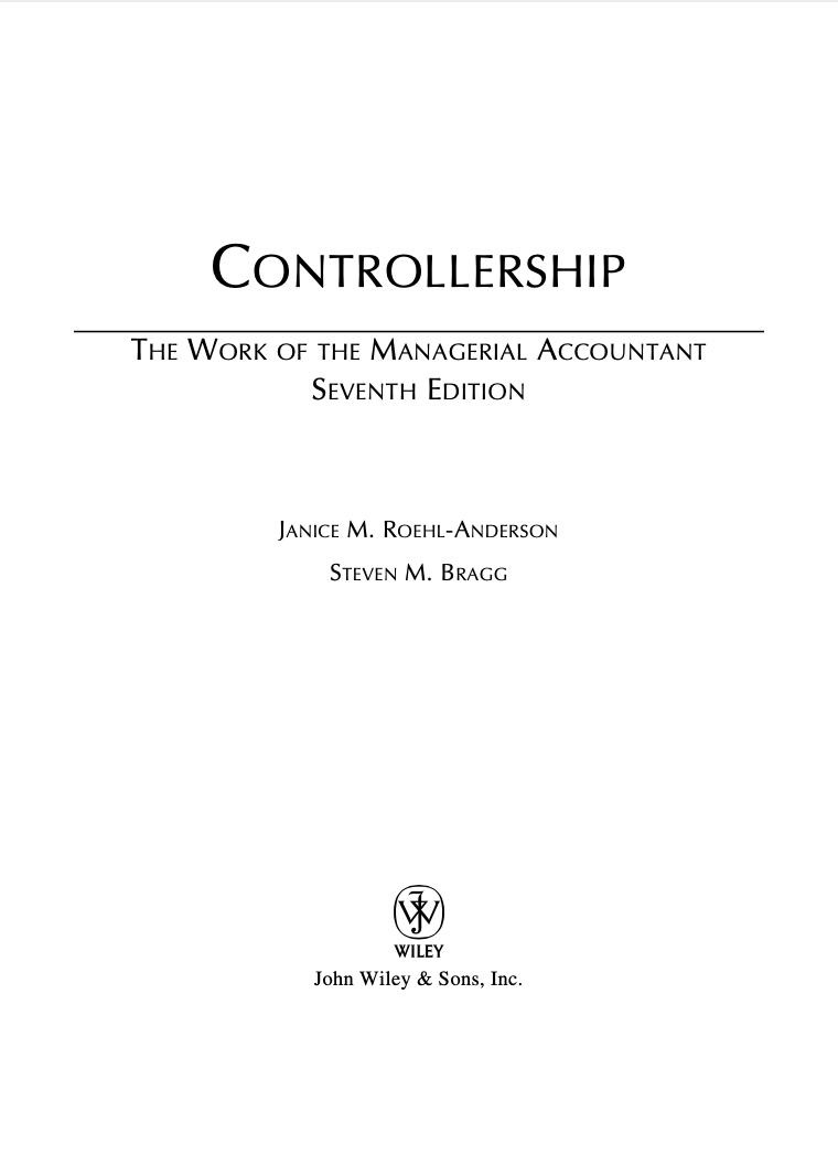Controllership book
