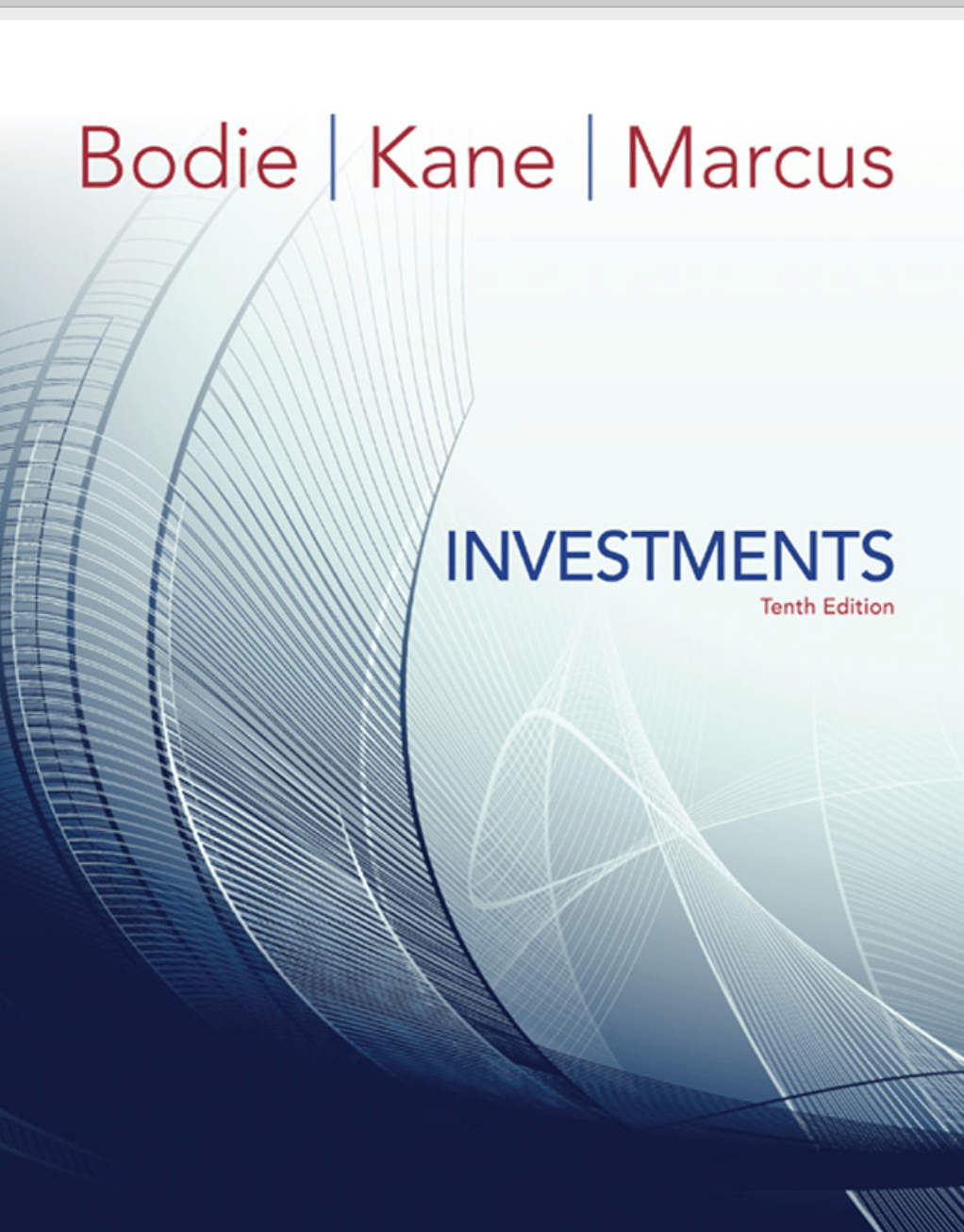 Investments, 10th EDITION book