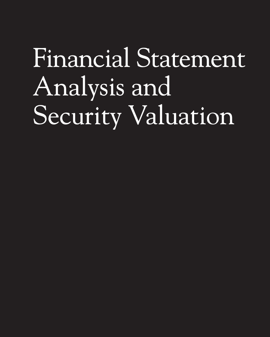 Financial Statement Analysis and Security Valuation on E-Book.business