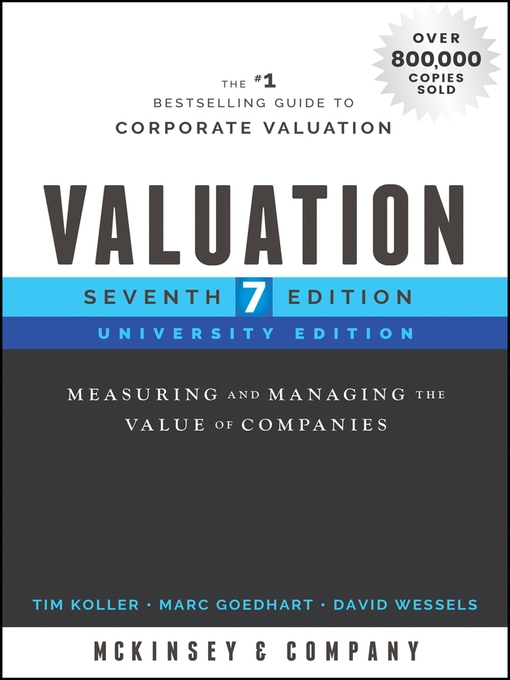 Valuation: Measuring and Managing the Value of Companies on E-Book.business