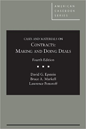 Cases and Materials on Contracts: Making and Doing Deals on E-Book.business
