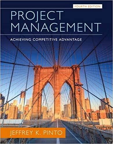 Project Management: Achieving Competitive Advantage book