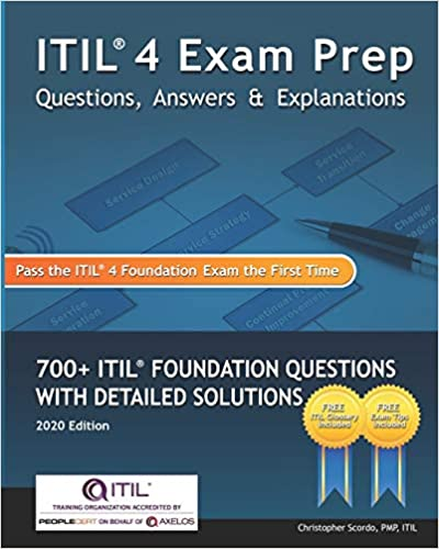 ITIL 4 Exam Prep Questions, Answers & Explanations book